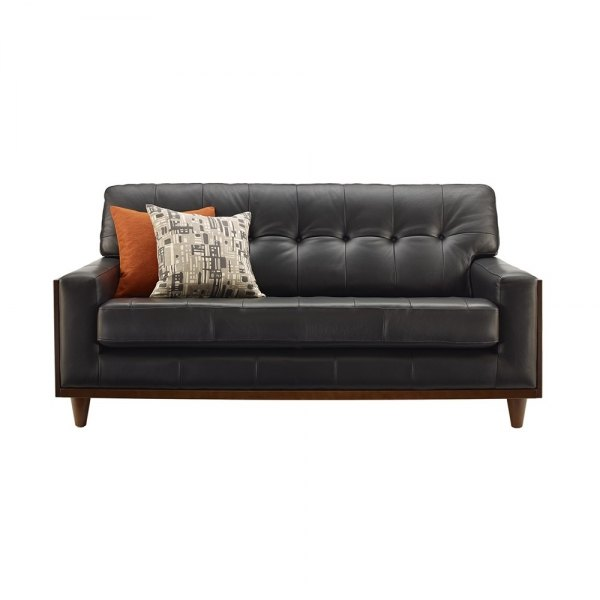 G Plan G Plan Vintage The Fifty Nine Leather Small Sofa
