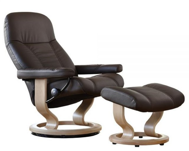 Stressless Stressless Consul Large Recliner with Stool