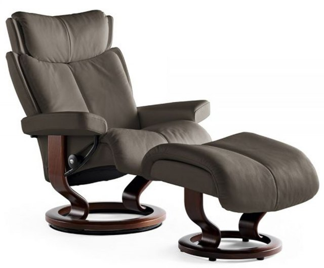 Stressless Stressless Magic Medium Recliner with Stool