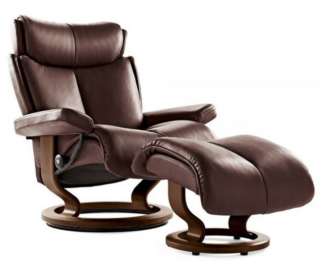Stressless Stressless Magic Large Recliner with Stool