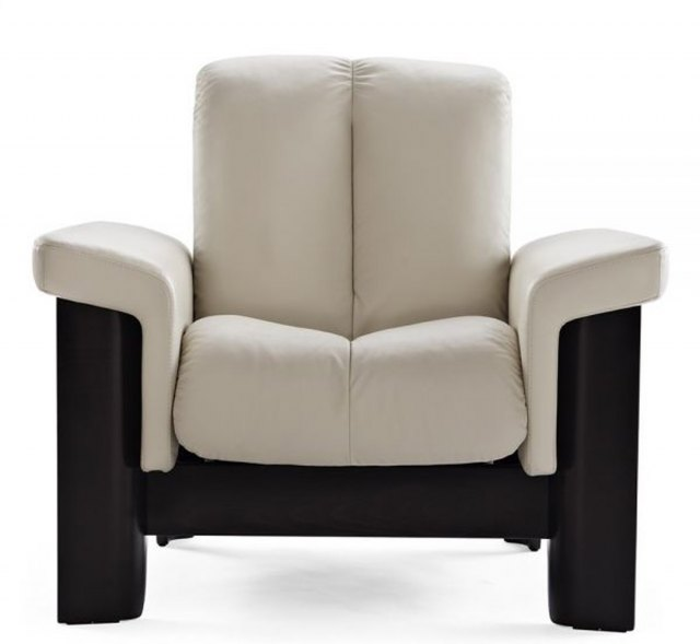 Stressless Wizard Low Back Chair Paloma Leather