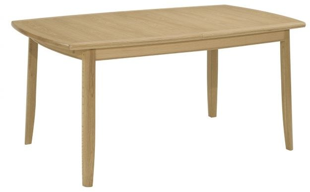 Nathan Nathan Shades Oak Extending Boat Shaped Dining Table on Legs