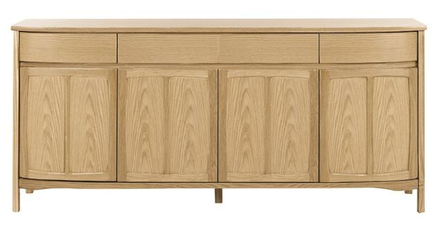Nathan Nathan Shades Oak Shaped 4 Door Sideboard