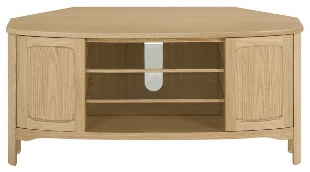 Nathan Nathan Shades Oak Shaped Corner TV Unit