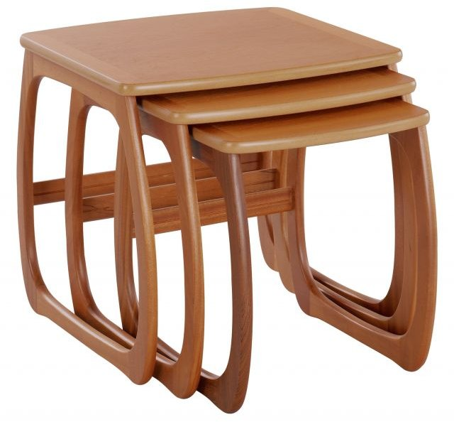 Nathan Burlington Nest of 3 Tables