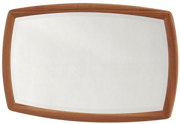 Nathan Nathan Shaped Wall Mirror  - Teak