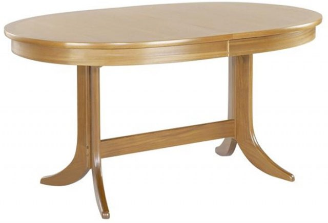 Nathan Large oval Pedestal Dining Table