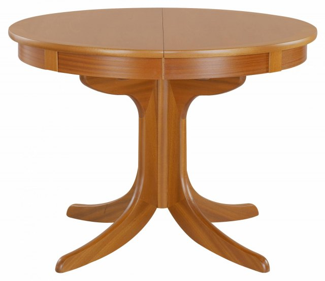 Nathan Circular Pedestal Dining Table - Teak