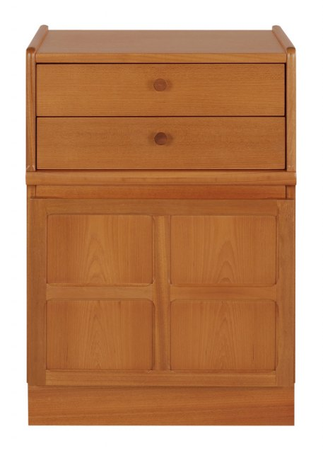 Nathan 2 Drawer Mid Storage Unit - Teak