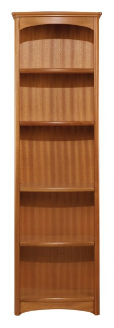 Nathan Tall Single Bookcase - Teak