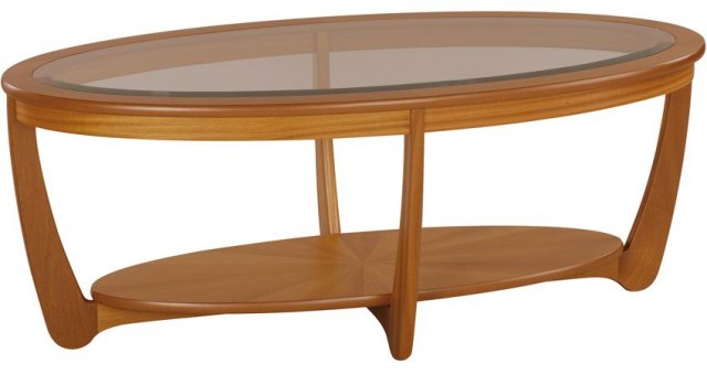 Oval Coffee Table With Shelf.Glass Top Oval Coffee Table Teak