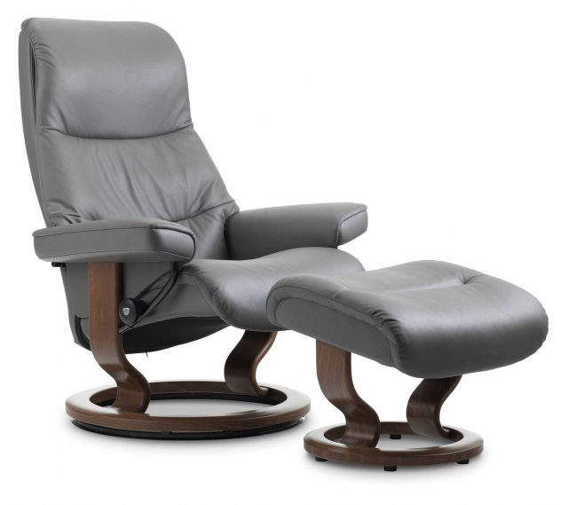 Stressless Stressless View Large Recliner with Footstool