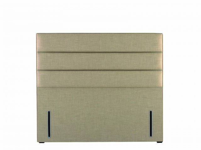 Hypnos Josephine Headboard in euro-slim and Linoso 905 Beige upholstered fabric
