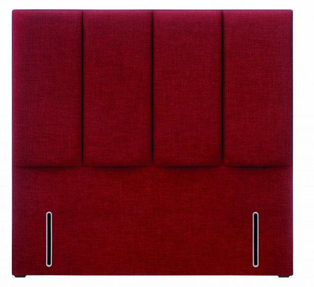 Hypnos Francesca Headboard in euro-slim and Linoso 200 Red upholstered fabric.