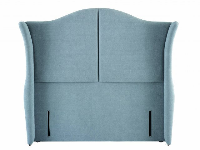 Katherine Headboard in Tall euro-wide and Panama 603 Grey upholstered fabric.