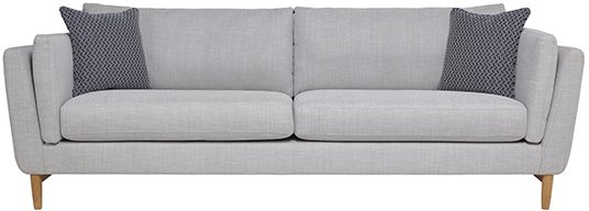 Ercol Favara Grand Sofa in Clear Matt (CM-Oak) finish and F106 fabric