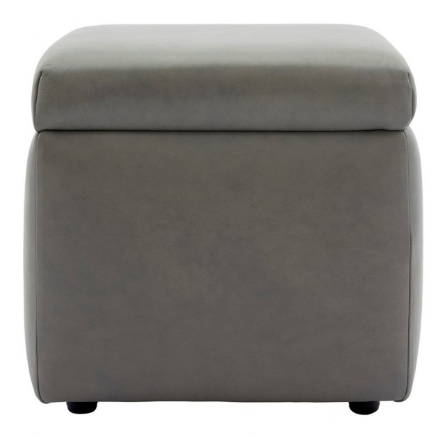 G Plan Spencer Storage Footstool in Leather