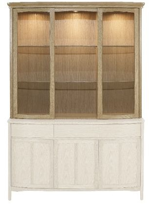 Nathan Nathan Shades Oak  Shaped Glass Door Display Top Unit