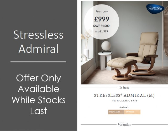 Stressless Admiral Medium Classic Chair (SPECIAL OFFER)