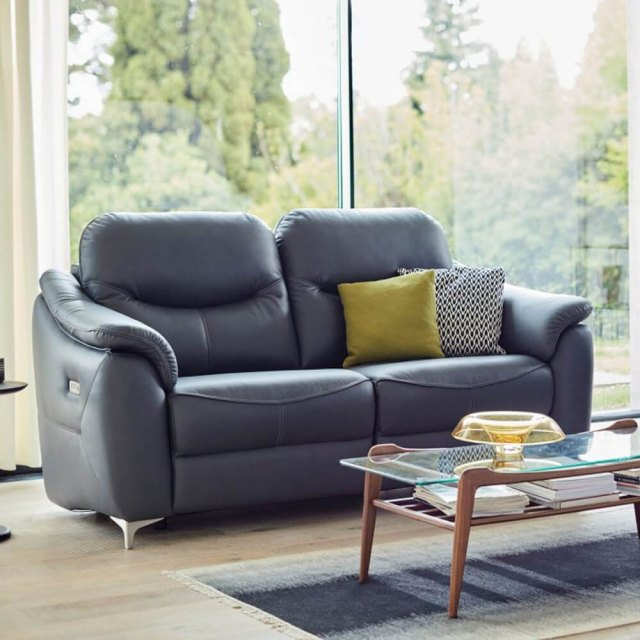 G Plan G Plan Jackson 3 Seater DBL Eclectic Recliner Leather Sofa