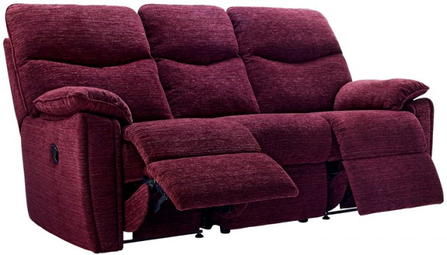 G Plan G Plan Henley Fabric 3 Seater Power Recliner Sofa Double