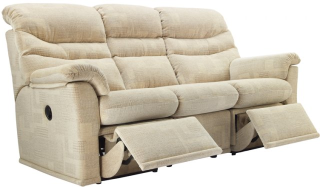 G Plan G Plan Malvern Fabric 3 Seater Power Recliner Sofa Double